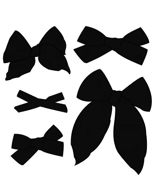 Midnight | True Black Solid Bows