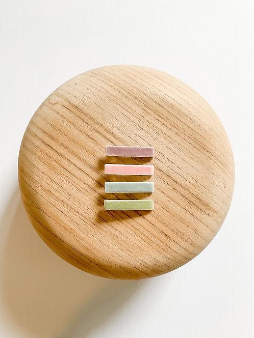 *Wholesale* Pastel Velvet Bar Clip Set