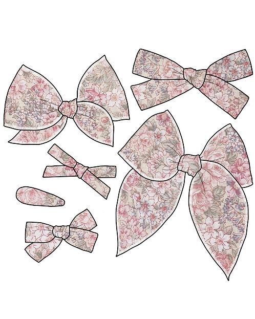 *Wholesale* Cordelia   Pink Floral Hair Bows