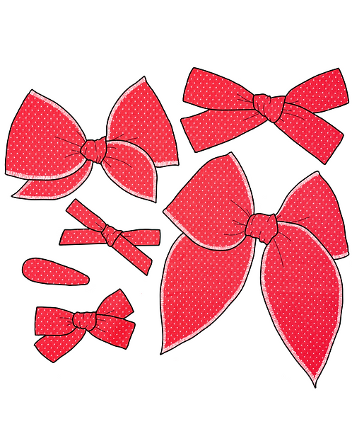 *Wholesale* America   Bright Red Dot Bows