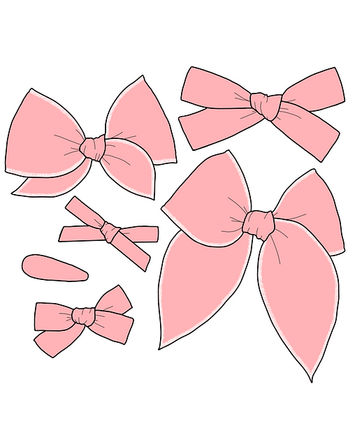 *Wholesale* Sweet Pea | Light Pink Solid Bows