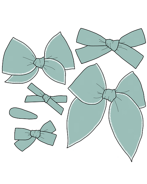 *Wholesale* Seaglass | Light Teal Solid Bows