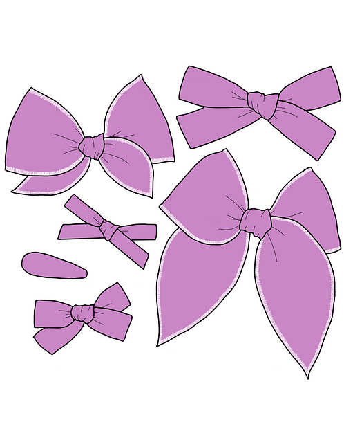 *Wholesale* Lilac | Bold Purple Solid Bows