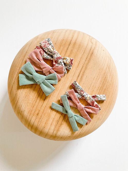 Eliana Bow Set | Petite Fabric Bows