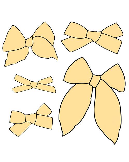 Lemon | Light Yellow Solid Bows