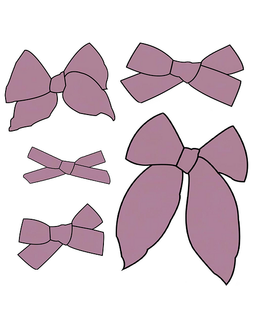 Wisteria   Muted Purple Solid Bows