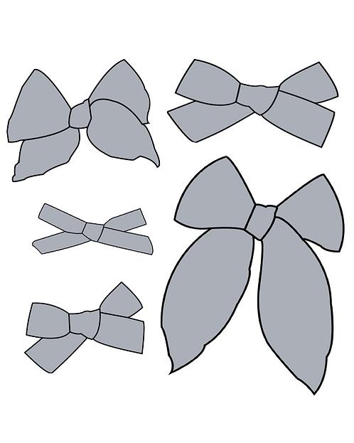 Smoke   Light Grey Solid Bows
