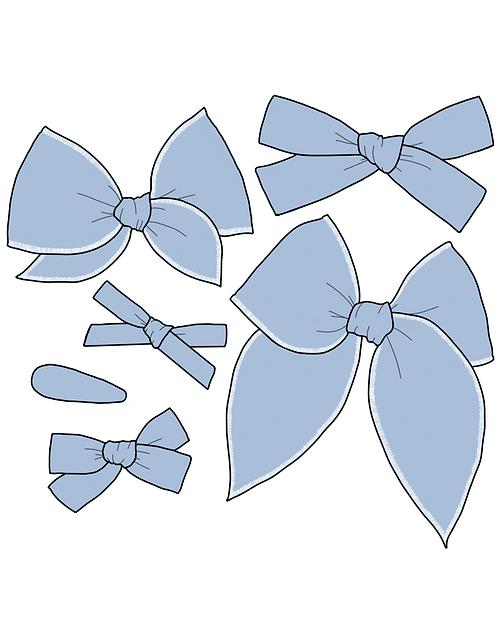 Hydrangea | Light Blue Solid Bows