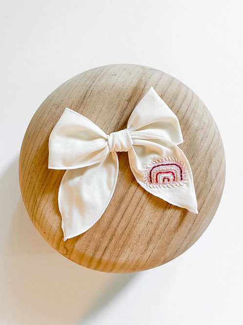 RTS Allegra | Hand-Embroidered Hair Bow