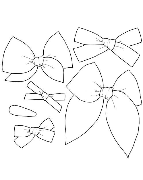Daisy | Bright White Solid Bows