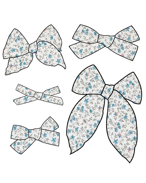Cora | Dainty Floral Hair Bows