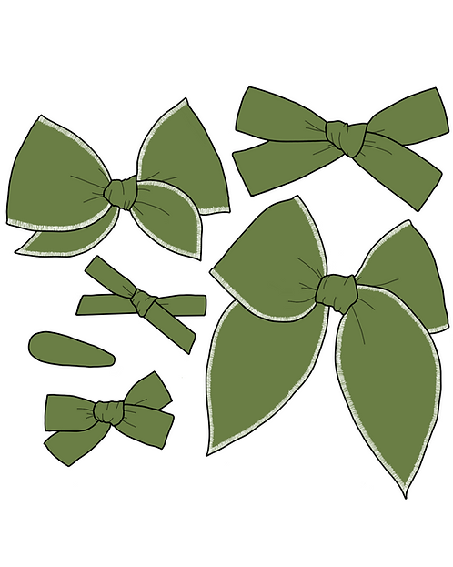 *Wholesale* Olive | Earthy Green Solid Bows