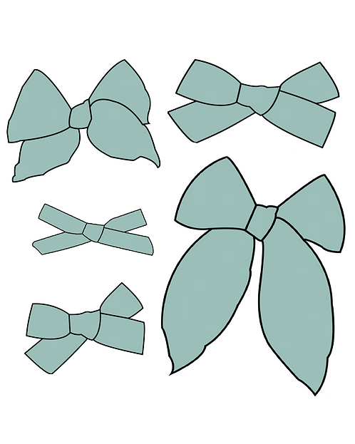 Seaglass   Light Teal Solid Bows