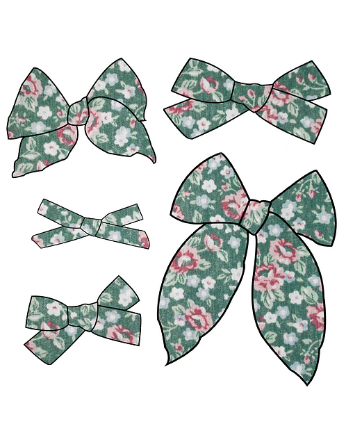 Evelyn   Jewel Tone Floral Bows