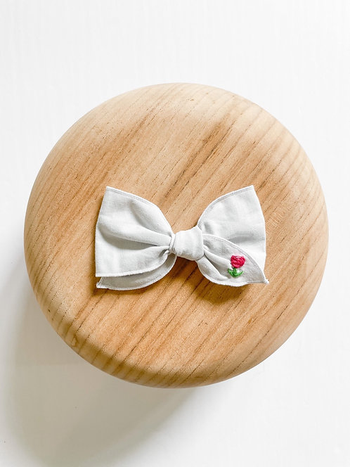 RTS Amy | Hand-Embroidered Hair Bow