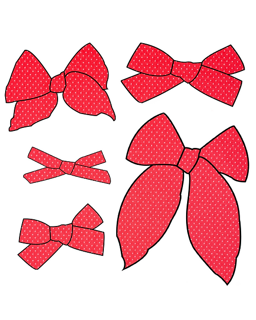 America | Bright Red Dot Bows