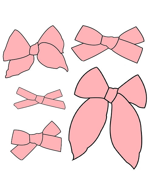 Sweet Pea   Light Pink Solid Bows