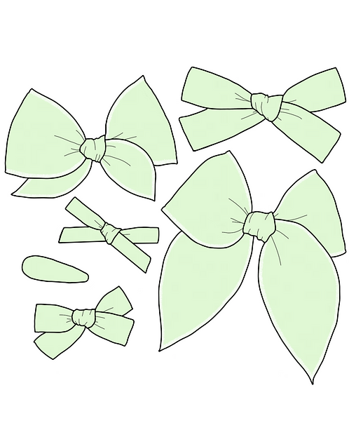 *Wholesale* Mint   Light Green Solid Bows