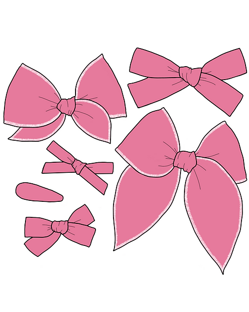 Orchid | Pink Purple Solid Bows
