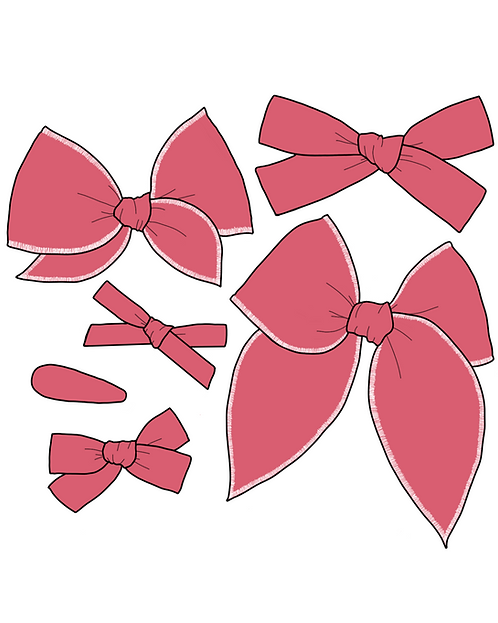 Hibiscus | Blush Pink Solid Bows