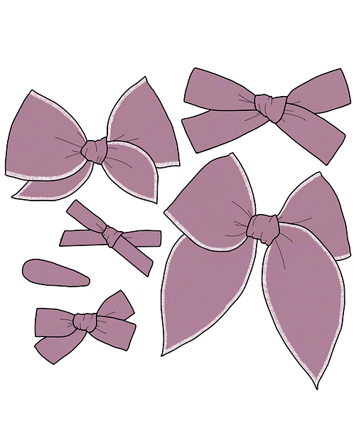 *Wholesale* Wisteria | Muted Purple Solid Bows