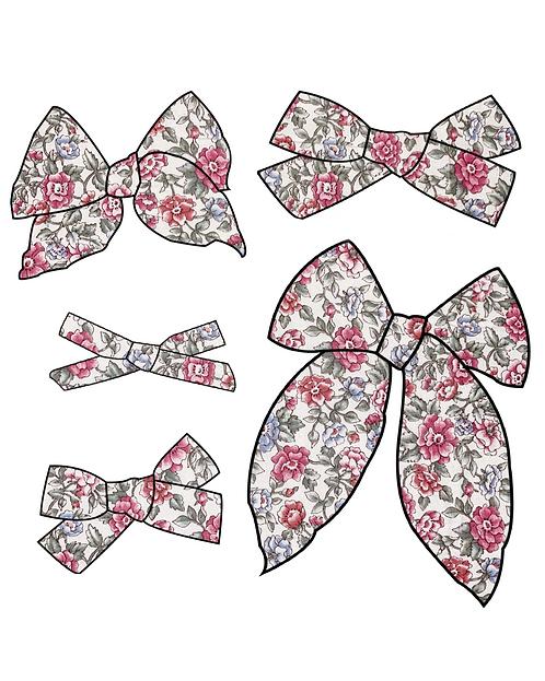 Abigail | Patriotic Floral Fabric Bows