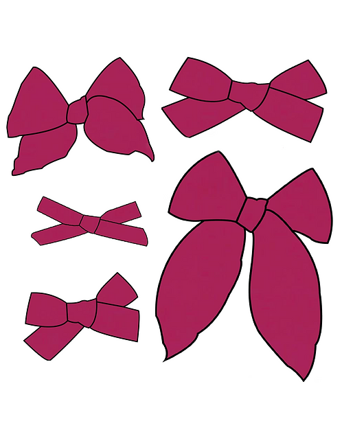 Boysenberry | Wine Red Solid Bows