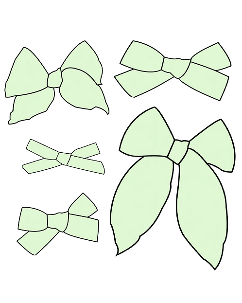 Mint | Light Green Solid Bows