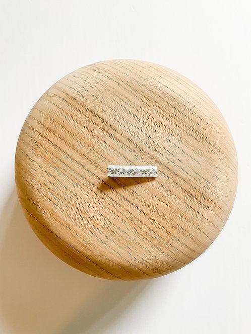 LTD Flora | Embroidered Ribbon Bar Clip