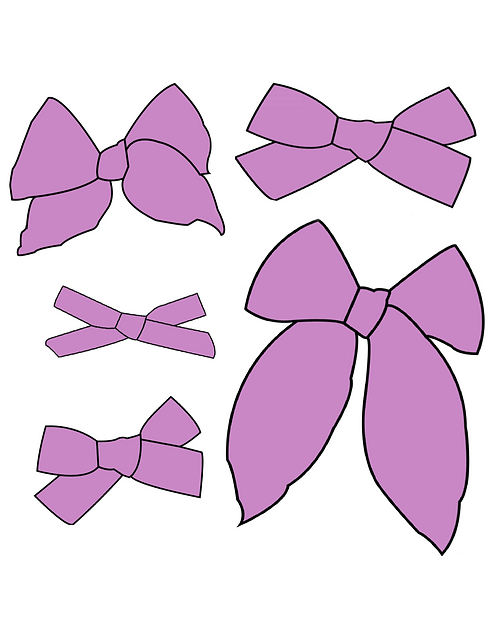 Lilac | Bold Purple Solid Bows