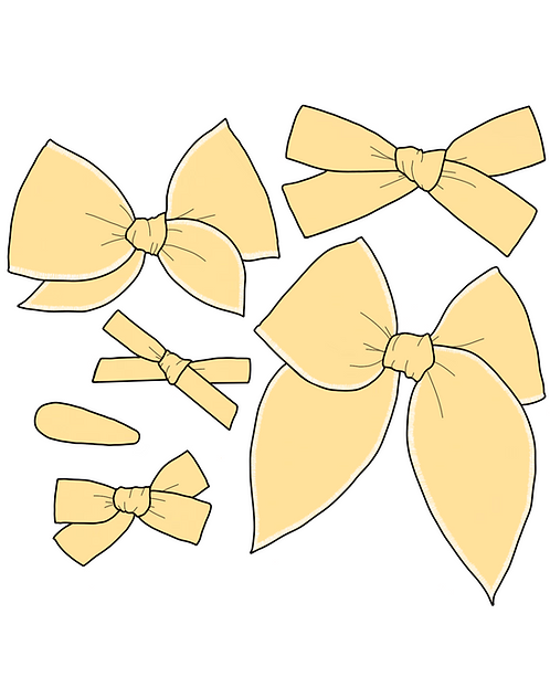 *Wholesale* Lemon | Light Yellow Solid Bows