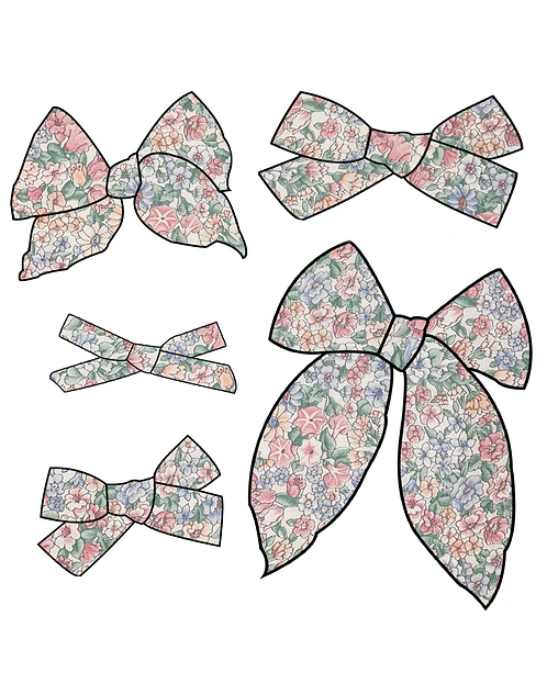 Blossom   Pastel Floral Hair Bows