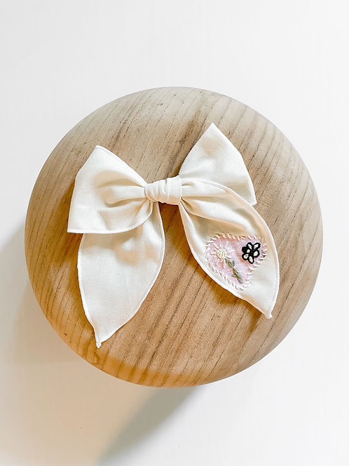 RTS Lynnette | Hand-Embroidered Hair Bow
