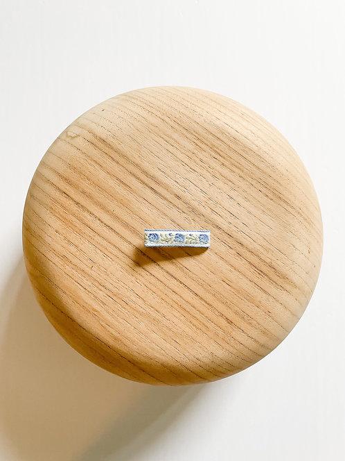 Luna | Embroidered Ribbon Bar Clip