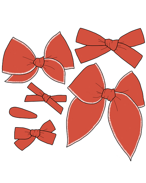 *Wholesale* Terracotta   Red Orange Solid Bows