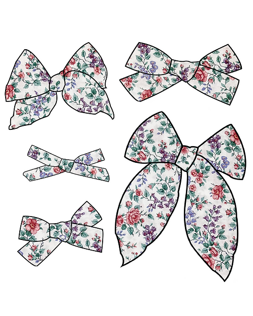Bryn | Purple Floral Hair Bows