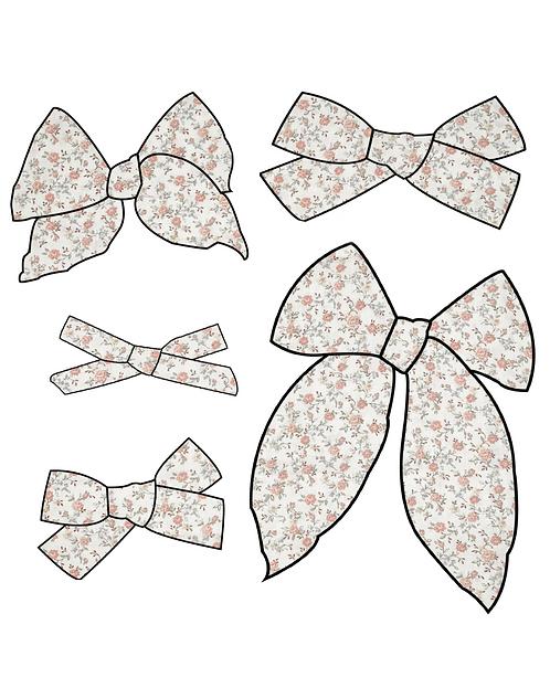 Frances | Soft Pink Floral Bows