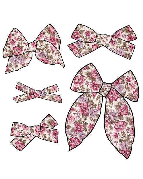 Mia   Pink Floral Hair Bows
