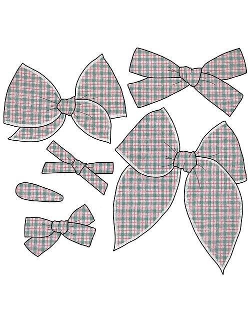 Joy | Green & Red Plaid Bows