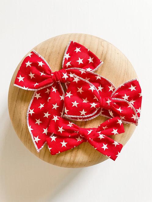 Betsy | Red Star Hair Bows