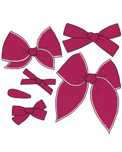 *Wholesale* Boysenberry | Wine Red Solid Bows