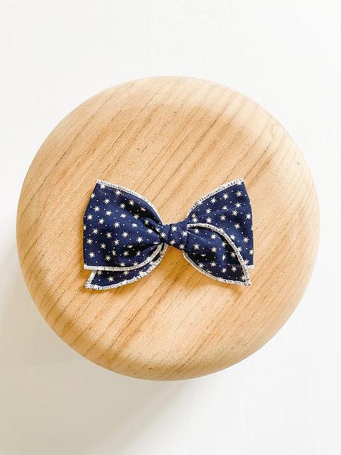 Starla   Blue Star Hair Bow