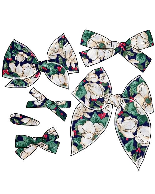 Gloria | White Christmas Floral Bows