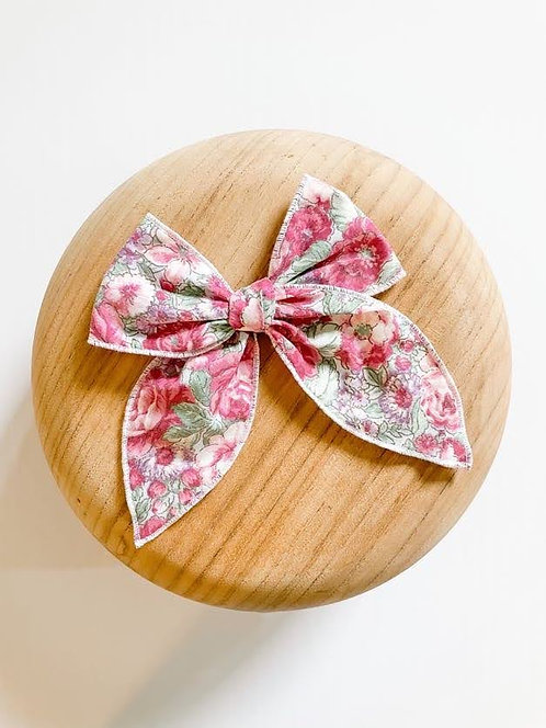 LTD Sofia | Pink Floral Hair Bow