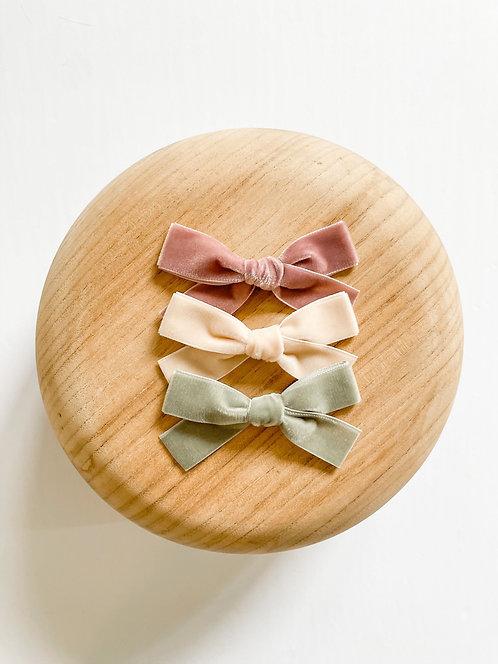 The Eloise Set | Velvet Ribbon Hair Bows