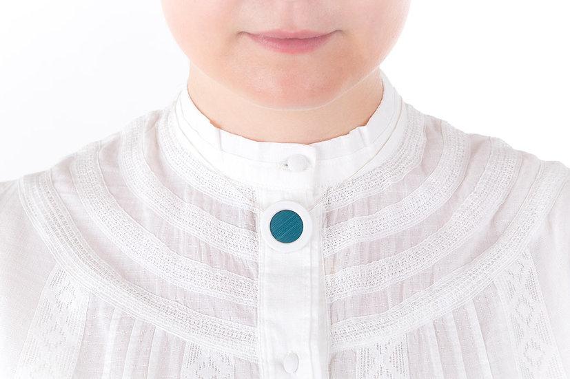 L'Atelier du Blanc - Collier petit pendentif Bleu Ciel | Paille & Porcelaine