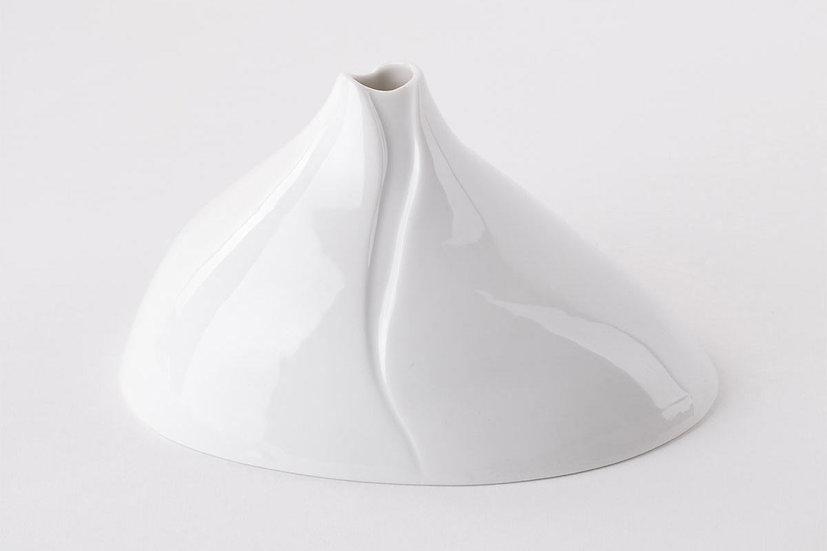 L'Atelier du Blanc | Vase soliflore lisse brillant - Bulbe L