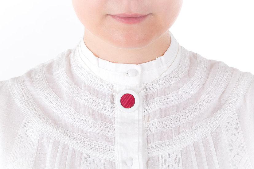 L'Atelier du Blanc - Collier petit pendentif Rose Fuchsia | Paille & Porcelaine