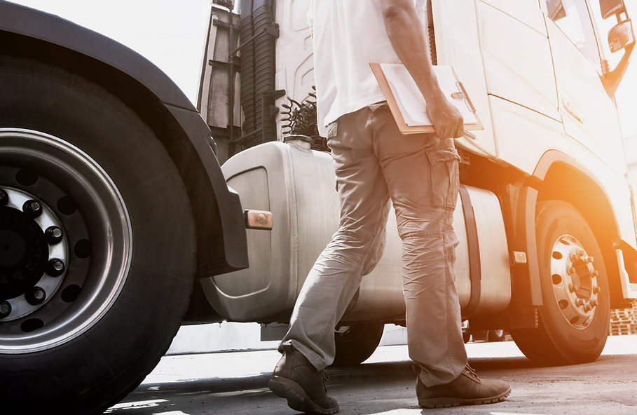 truck-driver-holding-clipboard-his-daily-checking-safety-semi-truck-freight-transportation