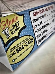 Signs - Table Signs - Annie The Pet Nann